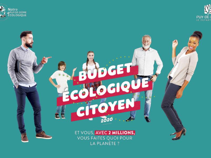 Budget Eco-citoyen : notre projet lauréat